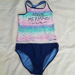SO Kohls 100% Mermaid Tankini Set Sz 16 NEW